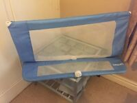 Lindam Soft Folding Bedrail, Blue - Bed guard - Excellent Condition