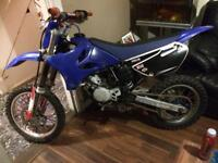 Here I have my yamahar yz 85cc