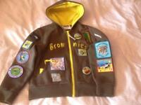 "9 Years Girls (Girlguiding UK) Brownie Hooded Jacket 70cm (28"") with Badges"