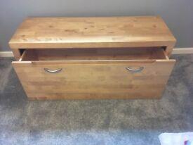 Long wooden Storage box