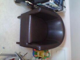 """Single tube chair in """" leather look """""""