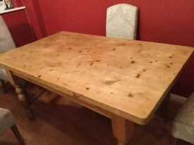 Large Country Style kitchen table