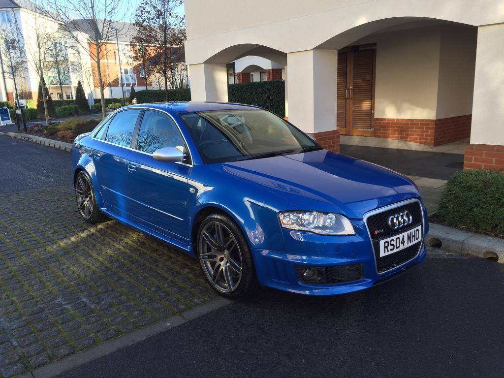 audi rs4 b7 saloon sprint blue 2006 rs4 private plate. Black Bedroom Furniture Sets. Home Design Ideas