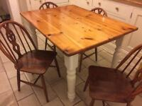 Matching set of 4 Ercol dining table chairs (delivery available)