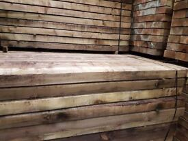 🌟 X50 Pressure Treated Railway Sleepers 200mm x 100mm x2400mm