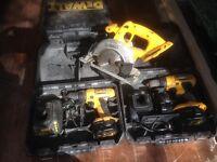 De Walt tools battery powered cordless hand tools
