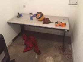 Heavy duty office desk workbench and chair