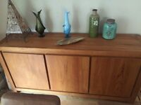 Dining room set table, 6 chairs, sideboard and funky vintage unit. Solid and stylish