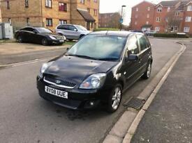 2008 Ford Fiesta 1.6 Diesel, Black, 5 Door, £30 Tax