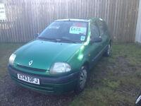 2000 (X) Renault Clio *5 Door*Cheap Tax & Insurance*Recent Cambelt*Low Mileage