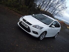 2010 60 PLATE FORD FOCUS 2.0 TDCI ZETEC S RARE 3 DR IN WHITE FSH 1 OWNER ST LOOKALIKE
