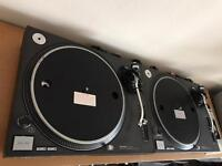 Technics SL-1210MK2 DJ Turntables With MK3 Pitch Controls Fitted
