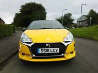 2016 CITROEN Ds Ds3 Chic Puretech YELLOW 1.2 PETROL SPEC EDI.
