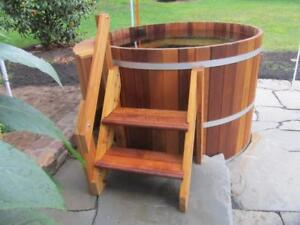 Canada's Finest Wooden Hot Tubs 2- 10 person sizes available with multiple heating options!