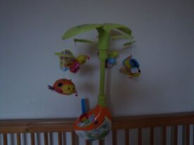 VTech sing and soothe musical baby cot mobile