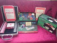 poker sets and card shuffler.