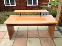 Lovely Wooden Desk with Drawers and Shelf
