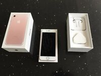 iPhone 7 32GB White/Rose Gold Unlocked Boxed Immaculate