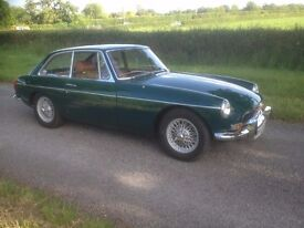 MG BGT Restored Tax Exempt Chrome bumpers Wire Wheels Overdrive