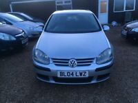 VOLKSWAGEN GOLF 1.4 S HATCH 5DR 2004* LOW MILEAGE* IDEAL FIRST CAR* CHEAP INSURANCE* GREAT CONDITION