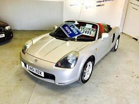TOYOTA MR2 ROADSTER, 2002 PLATE, 66000 MILES, 12 MONTHS MOT & FULL SERVICE HISTORY, 2 OWNERS.