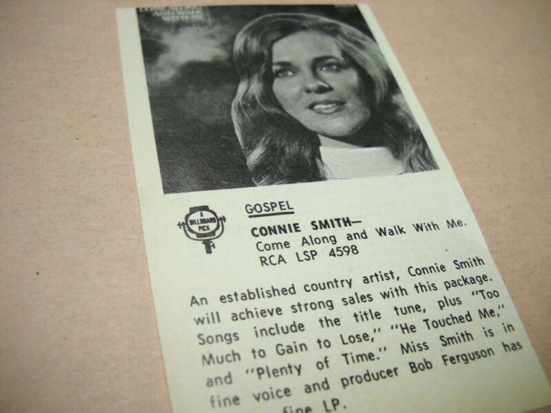 CONNIE SMITH original 1971 music business album review COME ALONG AND WALK WITH