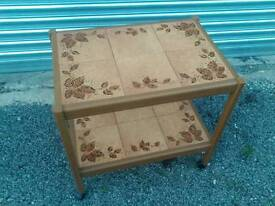 Tiled trolley, retro
