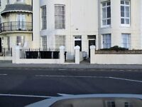 One bed, first floor flat, Worthing seafront building