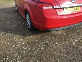 Ford Focus 2008 Rear Bumper red convertible