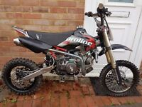 160cc demon x pit bike fast!!! pitbike/ dirt bike/ scrambler/ stomp/ ktm