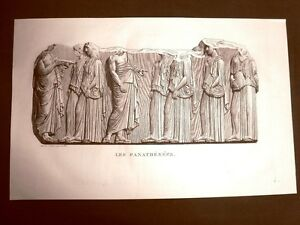 Incisione-del-1811-Les-Panathenees-Musee-des-Antiques-Scultura-classica-Bouillon