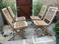 Heals Teak Garden Chairs (set of 4)