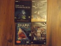 4 NATURAL HISTORY DVDS