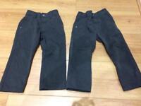 Next age 3 slim grey school trousers