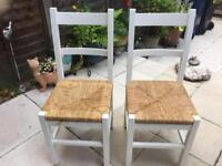 Painted pine ladder style chairs