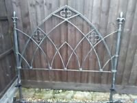 KINGSIZE CAST IRON BED AND MATTRESS - FREE TO COLLECTOR, STANION