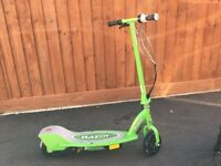 REDUCED RAZOR ELECTRIC SCOOTER GREEN
