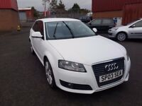 2009 Audi A3 1.8T FSI Sportback Sport - White - Spares or Repair - Low Miles