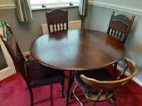 4 Dining Chairs plus Ercol Dining Table