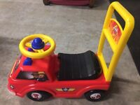 Fireman Sam sit on or push along trundle