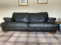 3 seater and 2 seater - Dark Gray/brown leather