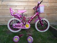 "Girls Apollo Daisychain 14"" wheels bike"
