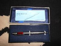 vintage kent lcd ball point pen rare red display