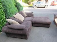 2 Large settees and one footstool