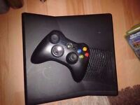Xbox 360 slim 4gb with 16 games