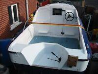 Shetland 536 Fishing Boat on Galvanised Trailer