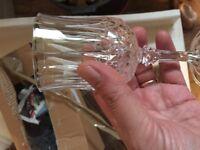 10 crystal gobblets