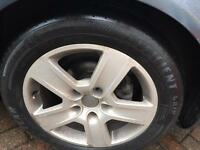 Audi alloy wheels with tyres 205/55/16 5x112 x5