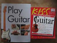 Play Guitar book & KISS Guide to Playing Guitar book