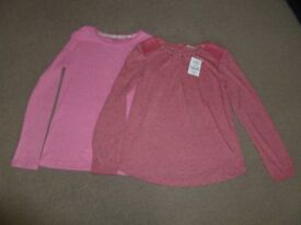 2 x BNWT GIRLS NEXT LONG SLEEVED TOPS/T-SHIRTS - AGE 10 YEARS